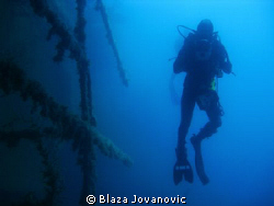 Shot taken during a dive with Eurodivers on the wreck of ... by Blaza Jovanovic 